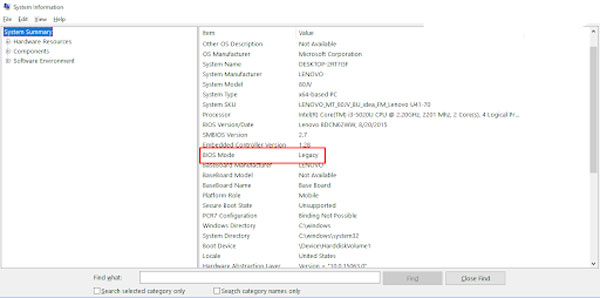 Cách kiểm tra máy bạn dùng UEFI hay BIOS