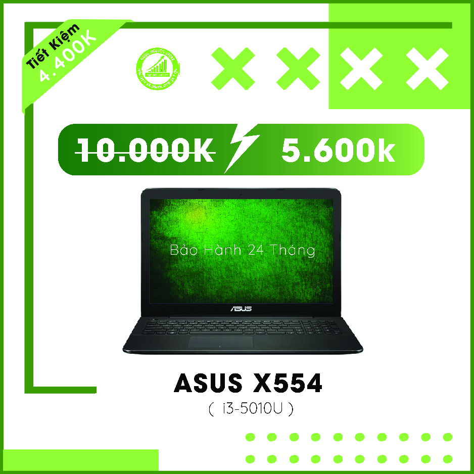 Asus X554 I3-5010U/ RAM 4GB/ HDD 500GB/ HD Graphic...
