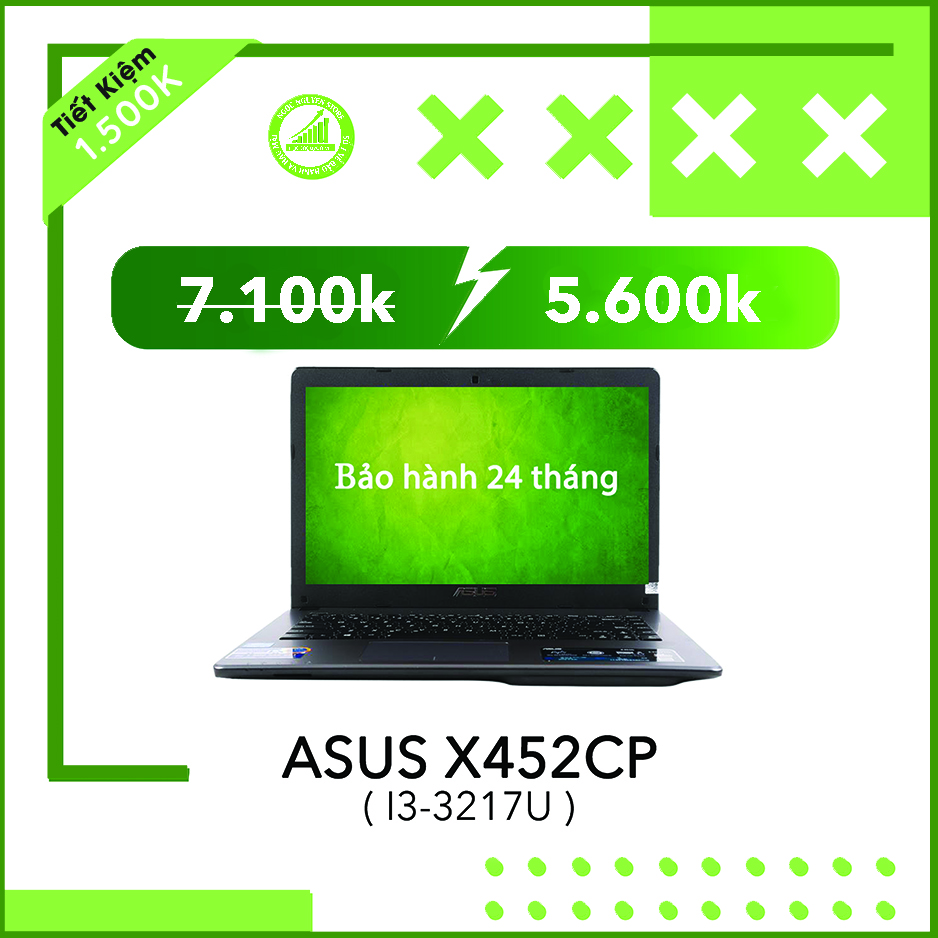 Asus X452CP I3-3217U/ RAM 4GB/ HDD 500GB/ AMD HD 8...