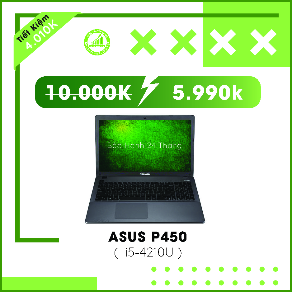 Asus P450 I5 4210U/ RAM 4GB/ HDD 500GB/ HD Graphic...