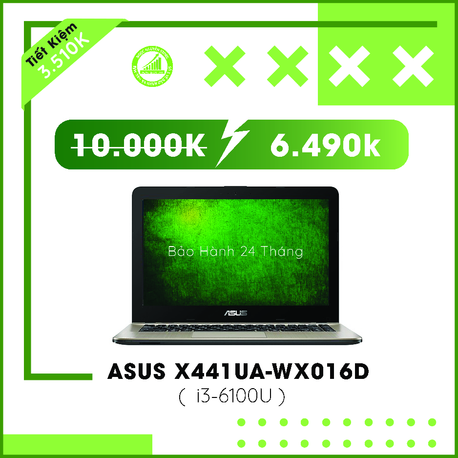 Asus X441UA I3-6100U/ RAM 4GB/ HDD 500GB/ HD Graph...