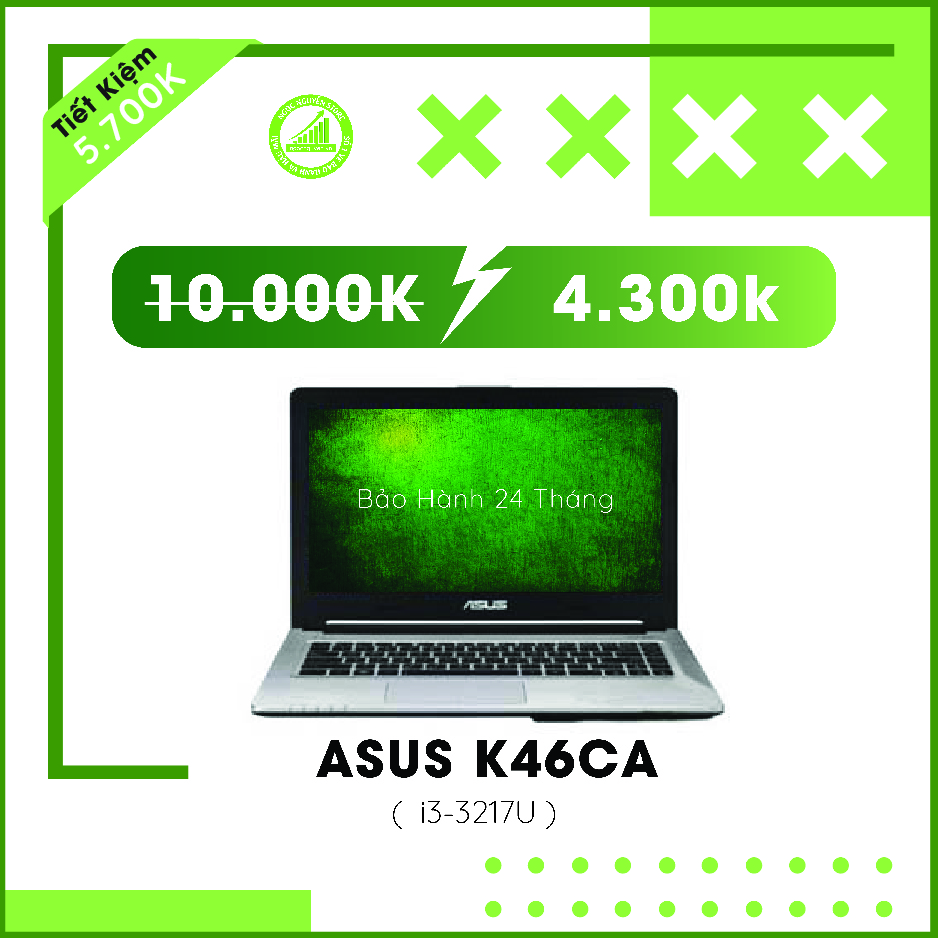Asus K46CA I3-3217U/ RAM 4GB/ HDD 500GB/ HD Graphi...